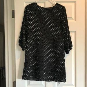 Forever 21 Polka Dot Open Back Shift Dress